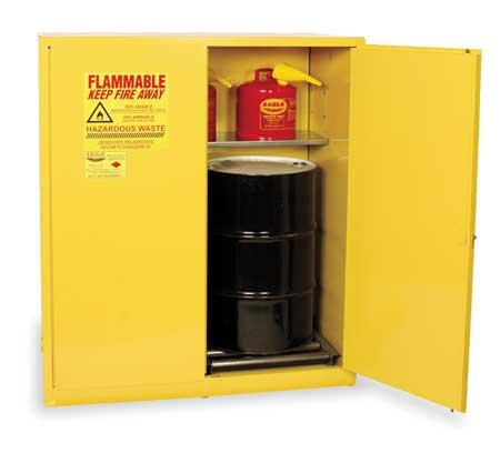 Haz Waste Cabinet, Vertical, 110 Gal., YLW