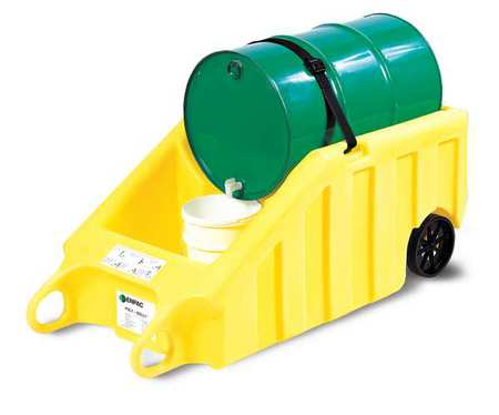 Indoor Dispensing Dolly, Yellow, 70 Gal