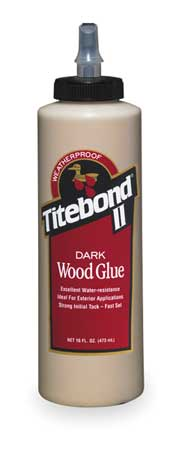 Wood Glue, Dark, 16 Oz, Brown