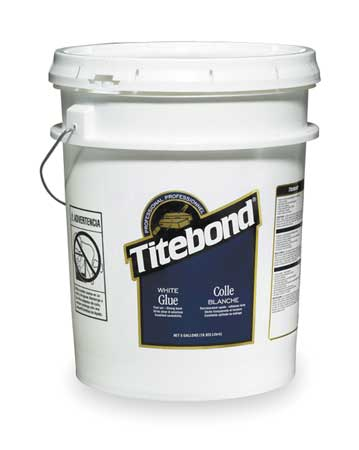 Wood Glue, Interior, 5 Gal, White
