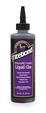 Wood Glue, Polyurethane, 8 Oz, Brown