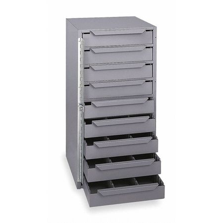 Storage Cabinet, 12-5/8 in W, 9 drawers