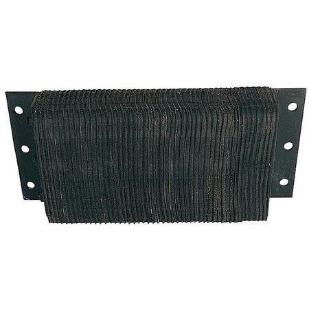 Dock Bumper, 10x4-1/2x8-1/2 In., Rubber