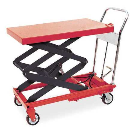 Scissor Lift Cart, 800 lb., Steel, Fixed