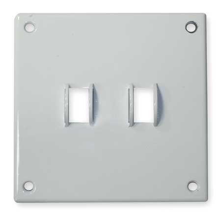Toggle Switch Wall Plate, 2 Gang, White