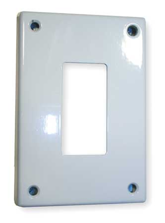 Rocker Wall Plate, 1 Gang, White