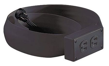flexiduct 6 ft 16 3 2 outlet extension cord w cover spt 5 4ef3 black. Black Bedroom Furniture Sets. Home Design Ideas