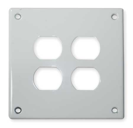 Duplex Wall Plate, 2 Gang, White