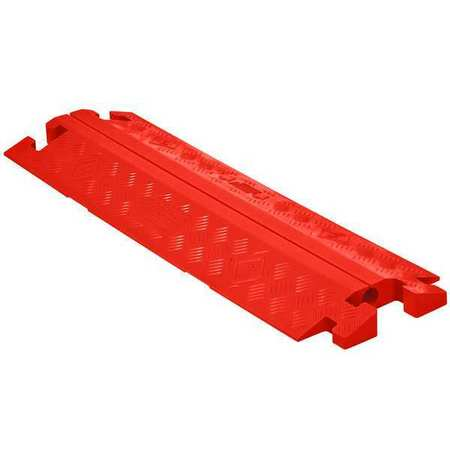Cable Protector, Split Top, 1 Channel, 3ft.