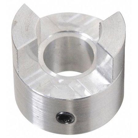 """Jaw Coupling Hub, AL070, Aluminum, 1/2"""", NK"""