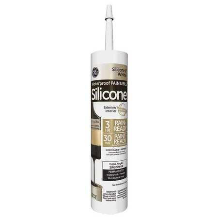 Silicone II Paintable Sealant,  10.1 oz.,  White