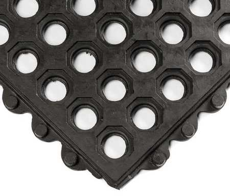 Interlock Drainage Mat, Black, 3 ft.x3 ft.