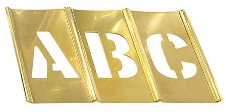 Stencil Set, Letters,  Punctuation, Brass
