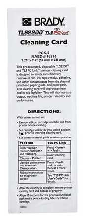 Printer Cleaning Cards,  for use with G1408653,  Pk5