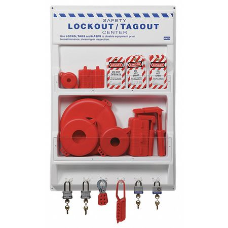 Lockout Station, Electrical/Valve, 24 In W