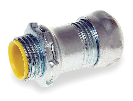 Compression Connector, 1/2 In, Steel
