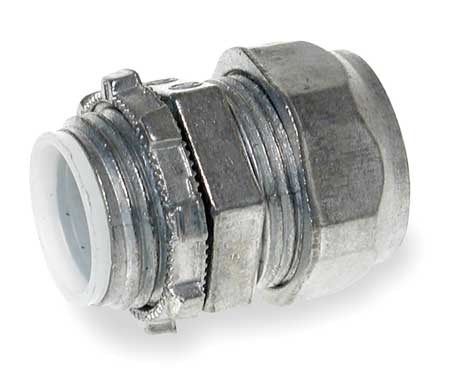 Compression Connector, 1 In, Zinc