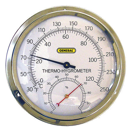 Indoor Analog Hygrometer, 30 to 250 F