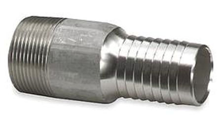 Nipple, 1-1/4 In Barb, 1-1/4 In MNPT, Steel