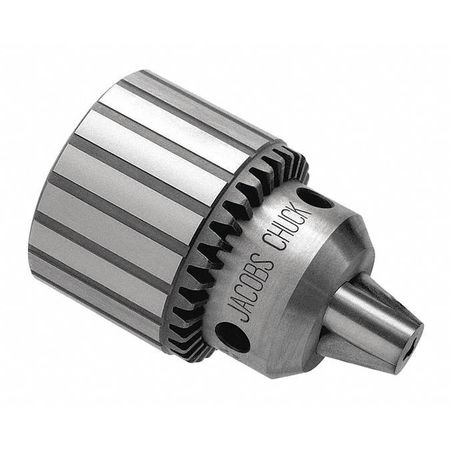 Drill Chuck, Keyed, Steel, 3/8 In, 3/8-24