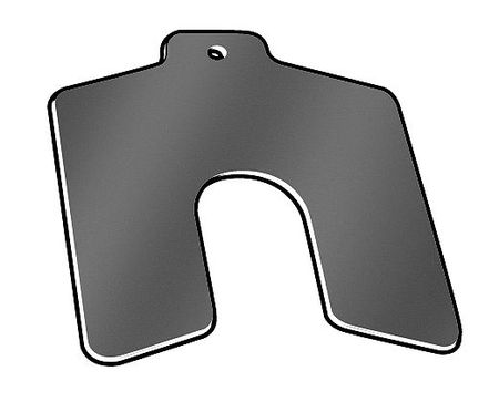"Slotted Shim with Tab A-2""x2"",  0.0600"" Thickness,  Pk20"
