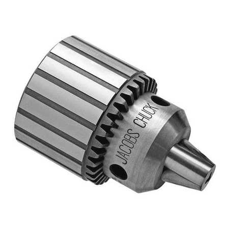 Drill Chuck, Keyed, Steel, 0.800 In, 5/8-16