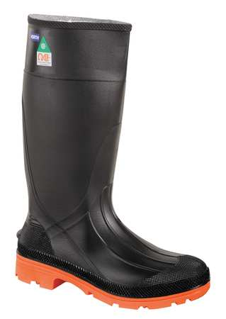 "Oversock Boots, Sz 12, 14"" H, Black, Stl, PR"