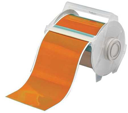 Tape, Orange, 100 ft. L, 4 In. W