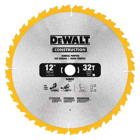 Dewalt circular saw bld carbide 12 in 32 teeth dw3123 zoro circular saw bld carbide 12 in 32 teeth greentooth Images