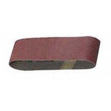 Sanding Belt, 4 In Wx24 In L, AO, 80GR, PK3