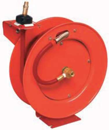 "3/8"" x 50 ft. Spring Return Hose Reel with Hose 300 psi"