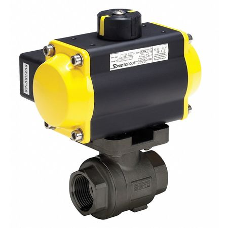 "2"" FNPT Carbon Steel Pneumatic Ball Valve Inline"