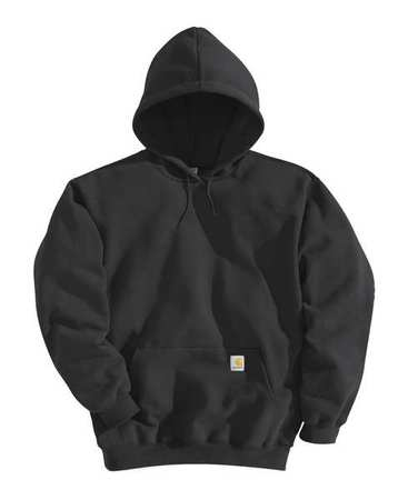 Hooded Sweatshirt, Black, Cotton/PET, 3XL