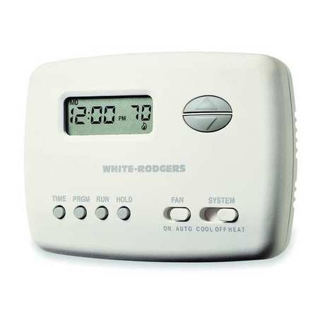 emerson thermostat 5 2 day programmable stages 1 heat 1. Black Bedroom Furniture Sets. Home Design Ideas