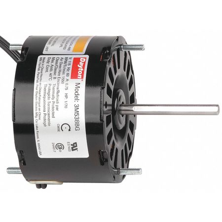 HVAC Motor, 1/70 HP, 1550 rpm, 115V, 3.3