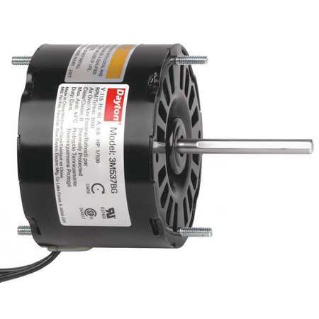 HVAC Motor, 1/100 HP, 3000 rpm, 115V, 3.3