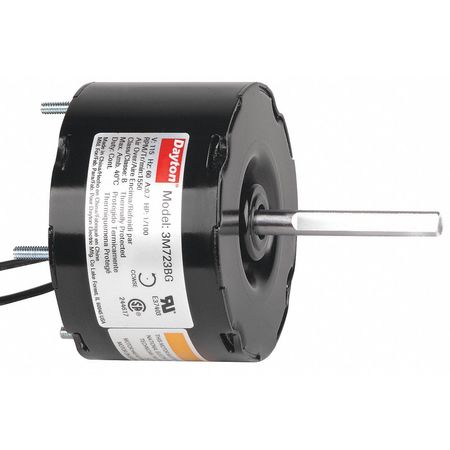 HVAC Motor, 1/100 HP, 1550 rpm, 115V, 3.3