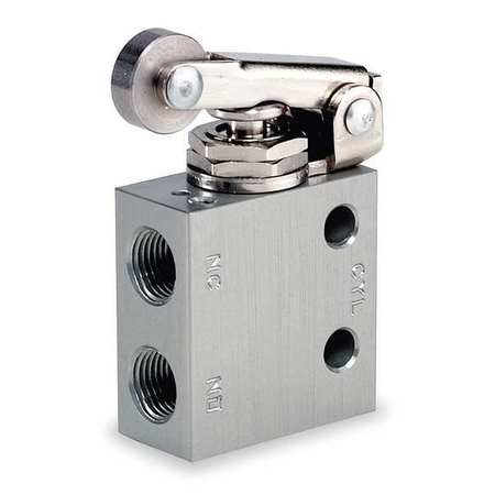 Manual Air Control Valve, 3-Way, 1/8in NPT
