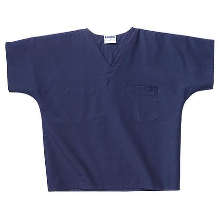 Scrub Shirt, L, Navy, Unisex