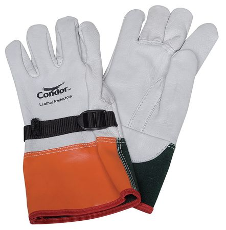 Elec. Glove Protector, 7, Wht/Org/Grn, PR
