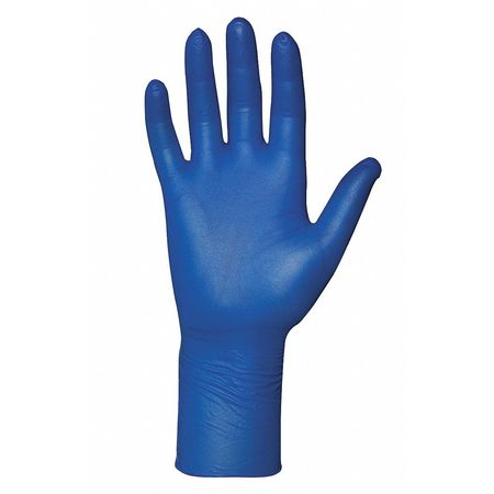 Disposable Gloves, Nitrile, 2XL, Blue, PK100