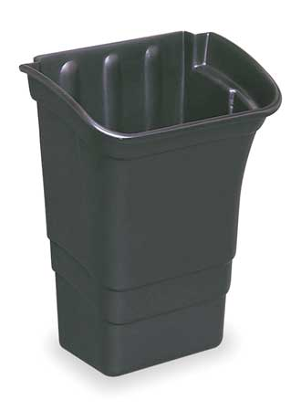 Refuse Bin, 8 gal., Black, 12-1/8 In. L
