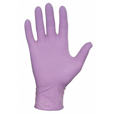 Disposable Gloves, L, Purple, PK100