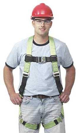 Full Body Harness, 2XL, 400 lb., Green