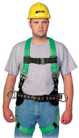 Full Body Harness, 2XL, 400 lb., Green
