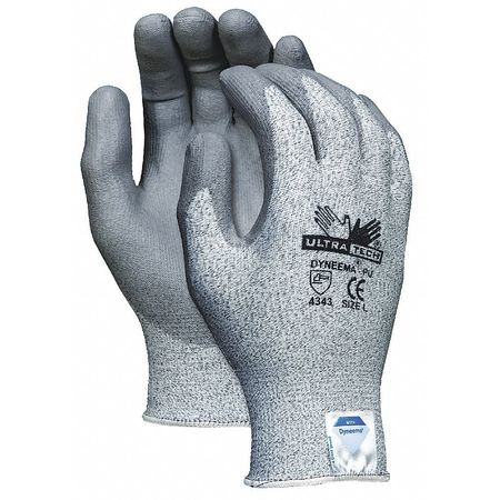 Cut Resistant Gloves, Salt/Pepper, S, PR
