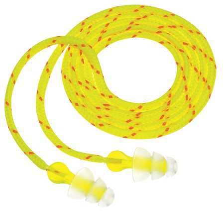 Reusable Ear Plugs, 26dB, Corded, Univ, PK100