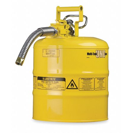 Type II Safety Can, Yellow, 13-1/4 In. H