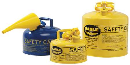 "Type I Safety Can, 1 gal., Blue, 8"" H, 9"" OD"