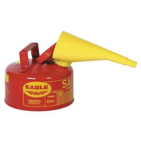"Type I Safety Can, 1 gal., Red, 10"" H, 9"" OD"